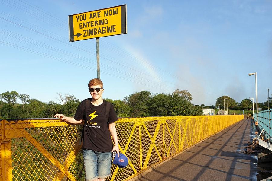 Entering Zimbabwe Victoria Falls